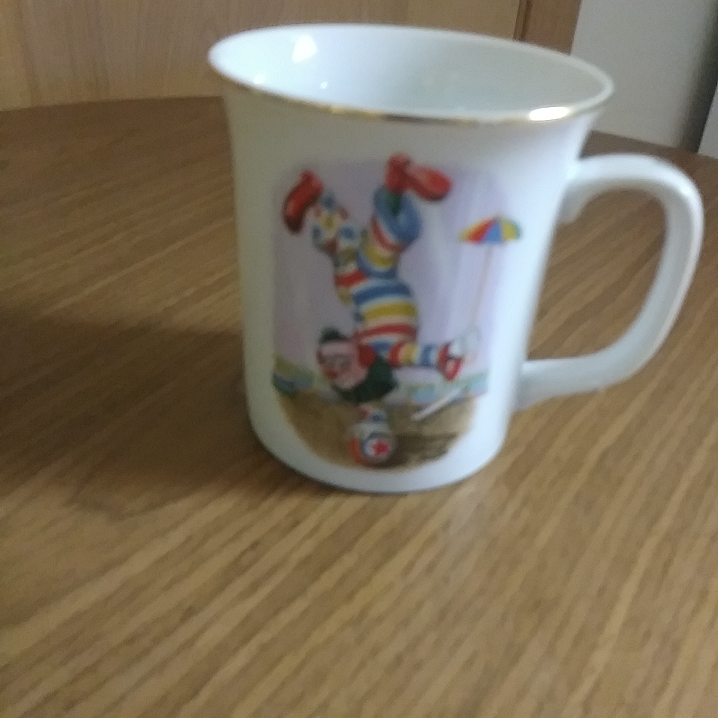 "Whimsical The World of Clowns presents"" Clyde On A Roll LMI 1984 Mug/Cup"""