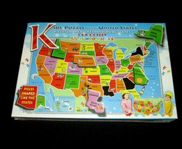 A Broader View Kids Puzzle of the United States 55 Pieces Jumbo - $14.84