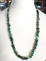 925 Silver Necklace with Agate Green Striated, 50 or 75 cm length image 2