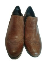 MUNRO AMERICAN Ankle Boots Leather Booties Heels Brown Sz 7.5 N ( Used 3X) - $14.85