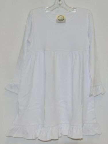 Blanks Boutique White Long Sleeve Empire Waist Ruffle Dress Size 2T