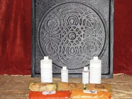 "22""x22"" Celtic Garden Path Stepping Stone Making Supply Kit & Mold FREE ... - $197.99"
