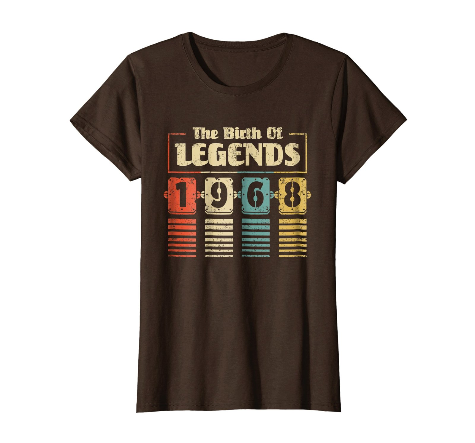 Funny Shirts - Retro The Birth Of Legend 1968 50th Birthday Gift 50 yrs old Wowe
