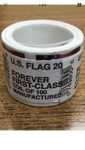 USPS US Flag 2017 Forever Stamps - Roll of 100 - $78.06