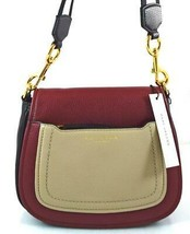 AUTHENTIC NEW NWT MARC JACOBS $375 LEATHER EMPIRE CITY RED GREY MESSENGE... - $148.00