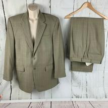 Lauren Ralph Lauren Men's Size 42L Gold Tan Windowpane Plaid Suit 2 Piec... - $59.40