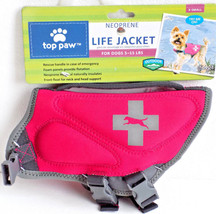 Neoprene Dog Life Preserver Jacket Hot Pink X Small Top Paw - $31.99