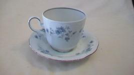 Johann Haviland Bavaria Germany Blue Garland Coffee Cup and Saucer - $27.72
