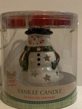 Yankee Candle Snowman Luminary Ceramic Tea Light Gift Set Sparkling Cinn... - $19.79