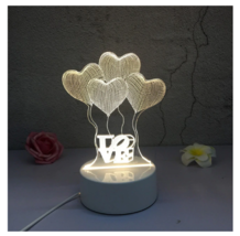 3D LED Lamp Creative Night Lights Novelty Night Lamp Table Lamp For Home 5 - £9.59 GBP