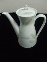 Rosenthal Selb Germany Tea Pot White Porcelain Colorful Leaves Mid Centu... - $24.70