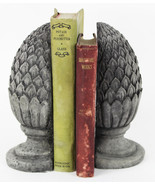 Artichoke Concrete Bookends  - $54.00