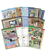 Hunkydory Crafts Collage-a-Card for Him Luxury Card Kit HIM101 - $39.71