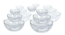 10 Clear Plastic Ball fillable Ornaments assorted sizes - $14.89