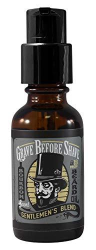 GRAVE BEFORE SHAVE™ Gentlemen's Blend Beard Oil Bourbon/Sandal Wood Scent