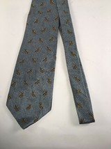 Kenneth Cole Men's Tie New York Necktie Silver And Gold Silk 4 W 60 Long USA image 2