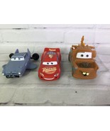 Disney Pixar Cars Mater Lightning McQueen Finn Mcmissile Swim Rubber Toy... - $34.64
