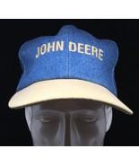 Denim John Deere Snapback Baseball Cap Hat Made In Orange CIty IA, USA - $42.08