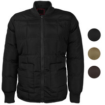 vkwear Men's Quilted Padded Insulated Heavyweight Puffer Bomber Jacket VAQ image 1