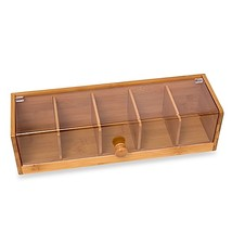 Lipper International Bamboo Tea Box with Acryli... - $19.99