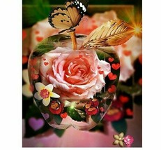 New Diamond Painting Apple Flower Embroidery Fruit Picture Cross Stitch ... - $9.89+