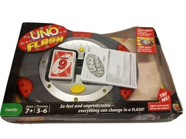 UNO FLASH ELECTRONIC CARD GAME MATTEL 2007 COMPLETE WITH BOX -TESTED -WO... - $46.22