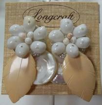 Longcraft Shell Leaf Pierced Earrings  - $19.79