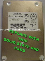 """SSD HITACHI DK222A-54 Replace with this SSD 1GB 2.5"""" 44 PIN IDE SSD Card image 1"""
