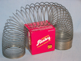 VINTAGE ORIGINAL SLINKY - 50th Anniversary Box - 1945-1995 - Walking Spr... - $9.98