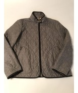 Men's Burberry Gray Quilted Wool Blend Coat Jacket Size XL - $217.55