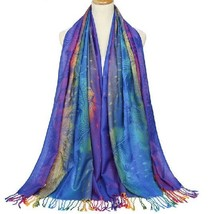 Tassel Scarf Lady Cotton Twill Shawl Autumn Winter Gradient Color Warm S... - $14.99