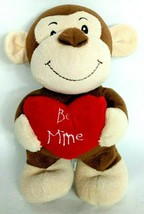 "Animal Adventure Valentine Heart Be Mine Brown Monkey Ape Plush 2016 9"" - $24.75"