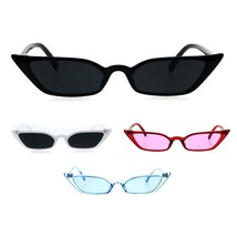 Womens Retro Vintage Style Narrow Cat Eye Goth Plastic Sunglasses - $12.95