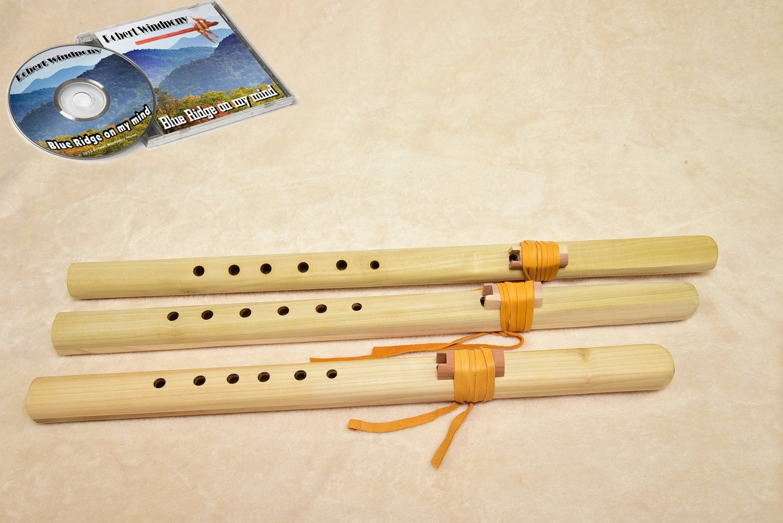 Windpony Unfinished Poplar Flute set - A, G and F# + FREE Flute Music CD