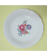 Antique Spodes Copeland Jewel Claudia Butter Pat Hand Tinted Floral Cent... - $26.24