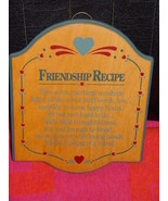 Friendship Recipe Wood Wall Plaques - $14.00