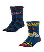 Justice League Mens Crew Socks Set Blue - $16.98