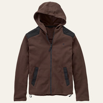 TIMBERLAND 8148J-246 MEN'S BROWN/BLACK FULL ZIP FLEECE HOODED JACKET SZ S. - $57.39