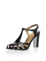 new nina original sibeal dress sandals / heels size 6 black patent leather - $80.00
