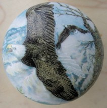 Ceramic Cabinet Knob  Eagle Soaring Flying Bird - $5.25