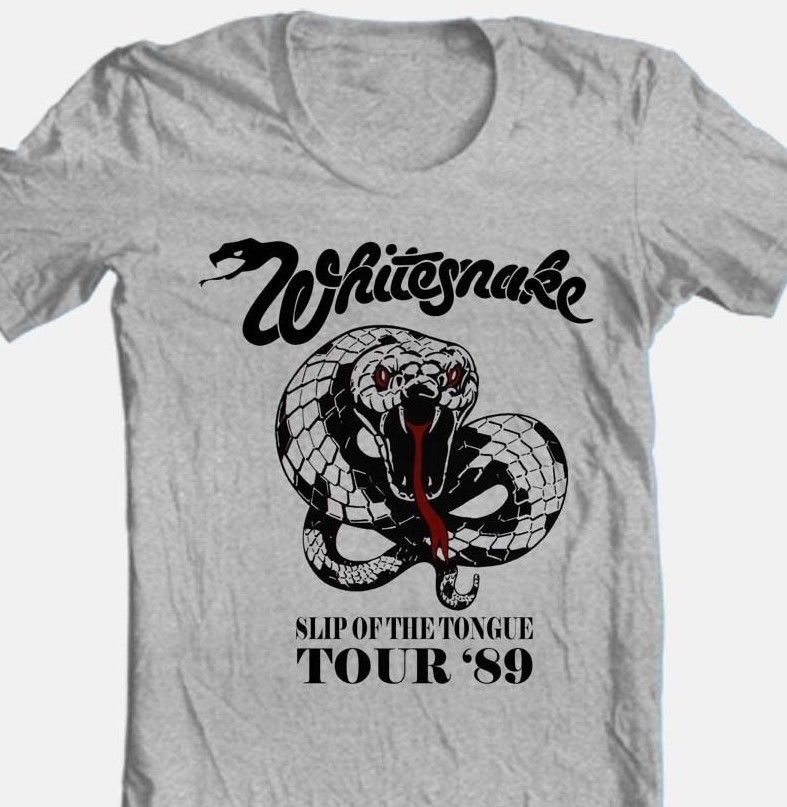 Whitesnake tour tshirt 80 s heavy metal band classic rock retro style for sale graphic online