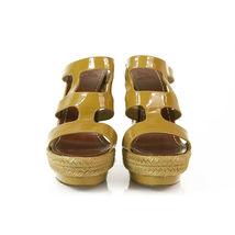 CHRISTIAN LOUBOUTIN Salamanca Espadrille beige Patent Leather Wedges Shoes sz 37 image 6