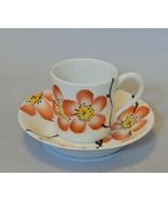 Delvaux 18 Rue Royale Paris Porcelain Miniature Cup and Saucer Set - $54.45