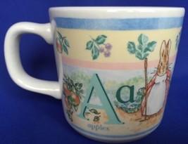 Wedgwood Peter Rabbit Child's Mug Baby Cup 1997 Beatrix Potter ABC Alphabet - $14.80
