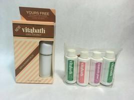 Vintage Vitabath Cool Coconut Shower Gelee And Vitabath Travel Set Spring Green - $79.19