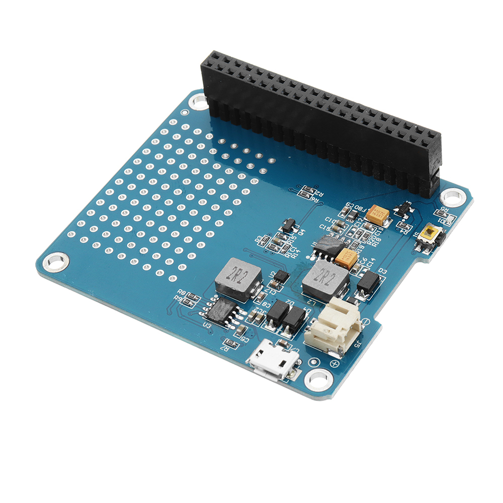 Geekworm UPS HAT Expansion Board + 2500mAh Lithium Battery For Raspberry Pi 3 Mo