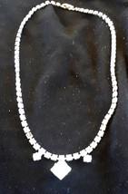 Vintage Clear Rhinestone Choker Necklace - $10.00