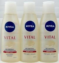 Nivea VITAL Make-up remover/ facial water 3 X 200ml --FREE SHIPPING-- - $44.54