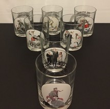 "Vintage Norman Rockwell ""The Saturday Evening Post"" Glassware Lot Of 7 - $35.99"