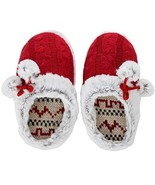 Ladies Womens Ladies Red Winter Slipper (Small) Cozy - Warm Comfortable - $12.84